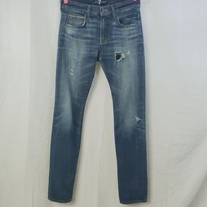 ❤7 FOR ALL MAN KIND PAXTYN SKINNY JEANS SZ 29